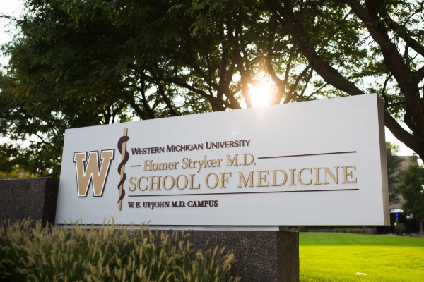 Western Michigan University custom road sign