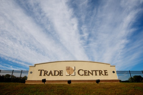 Trade Center custom sign