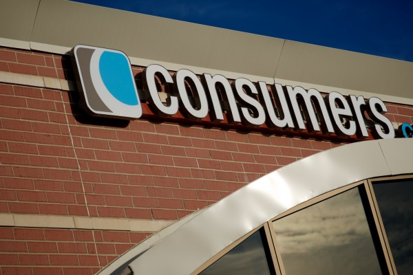 Consumers Credit Union custom lit wall sign