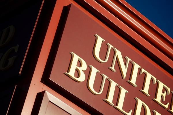 United Building custom illuminated monument sign