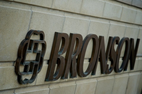 Bronson custom bronze logo sign