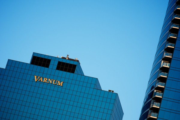 Varnum illuminated channel letter wall sign