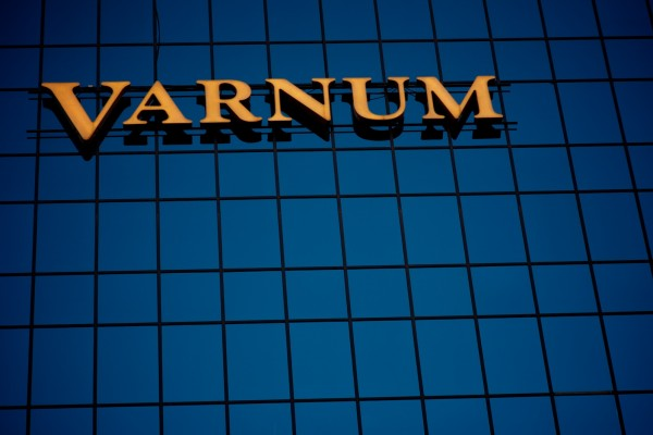 Varnum illuminated custom channel letter wall sign