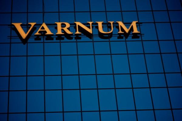 Varnum illuminated custom channel letter wall sign