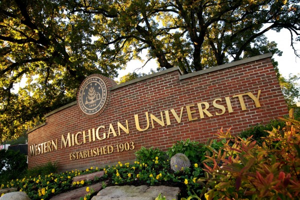 Western Michigan University custom monument sign