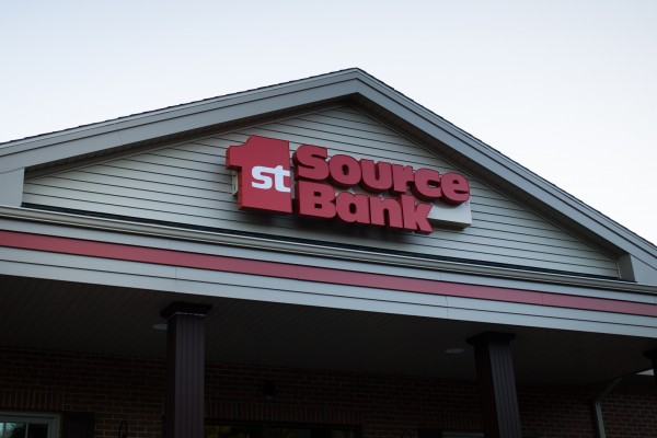 1st Source Bank custom wall sign
